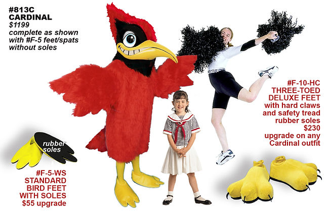 Facemakers Cardinal Mascot Costumes