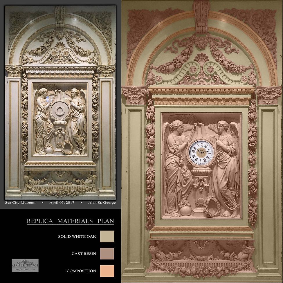 Replica materials plan for full-sized Titanic clock