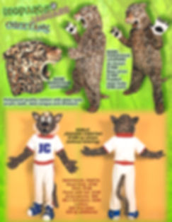 Facemakers Cheetah mascot costumes