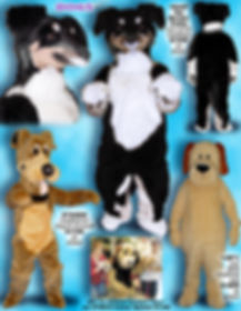 Facemakers Border Collie Mascot Costumes