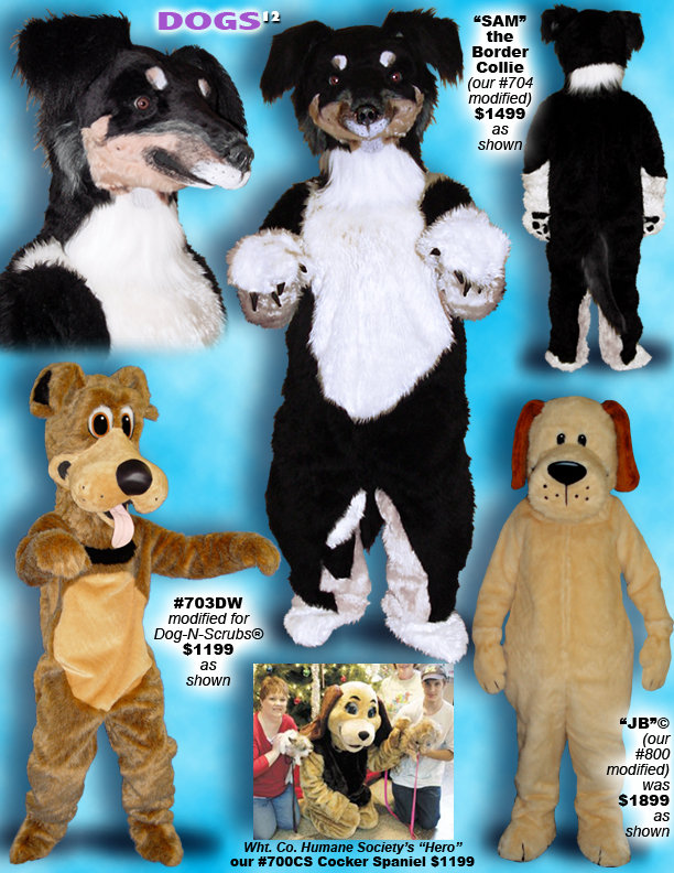 Facemakers Cocker Spaniel Dog mascot costumes