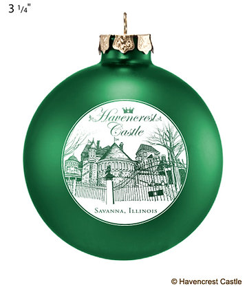 Havencrest Christmas Ornament, GREEN Ball