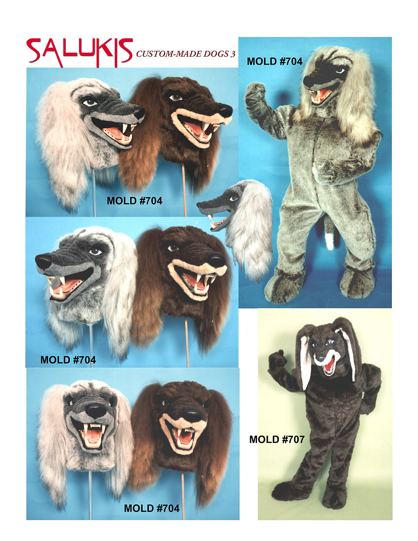 Facemakers Saluki Dog mascot costumes