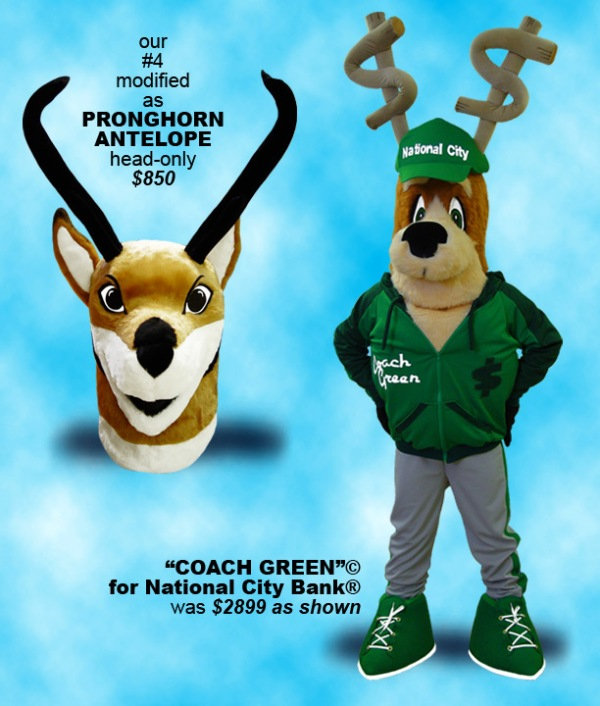 Facemakers Pronghorn Antelope mascot costume