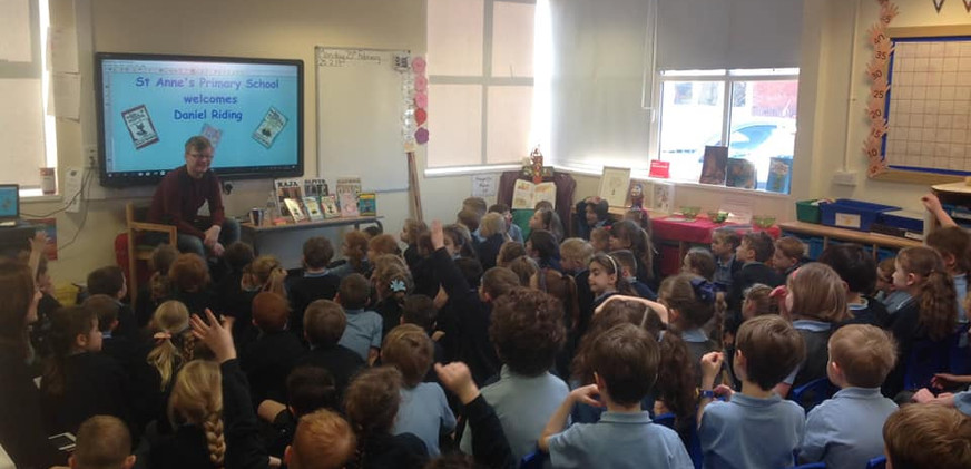A packed audience for my first school visit.