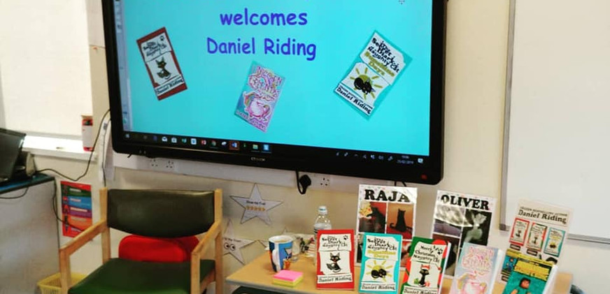 Feeling famous at my first ever school visit.