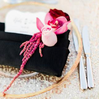 napkin detail flowers wedding