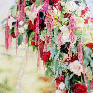 blush gold burgundy wedding