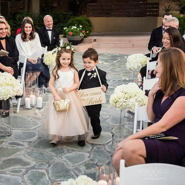 flower girl_ring bearer_wedding ceremony