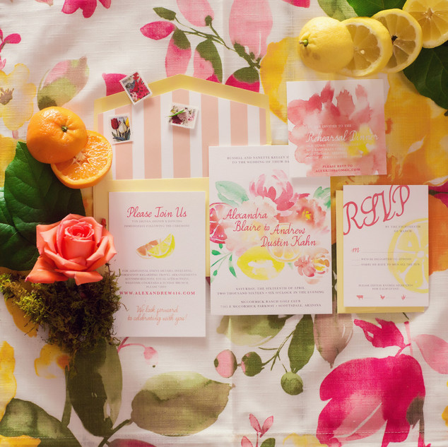 wedding invitations_spring wedding_citrus wedding