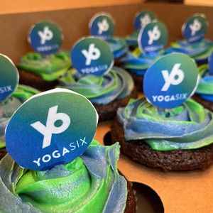 YogaSix themed cupcakes