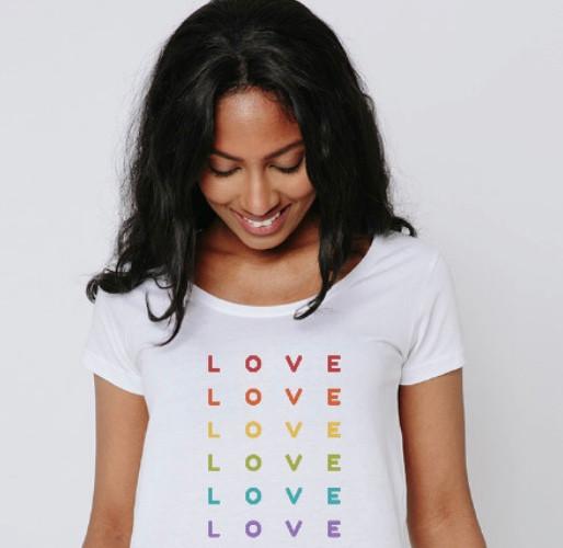 Rainbow LOVE Girly Tee