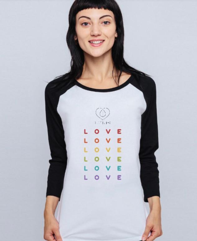 Rainbow Love Baseball T
