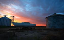 Mississippi Delta sailboat at sunset