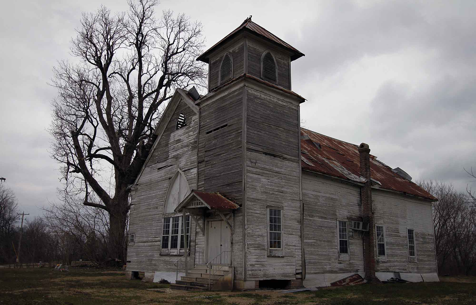 Rural church in MIssissippi Delta