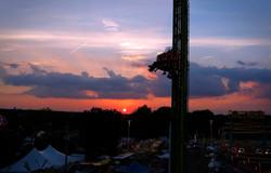 Delta Fair ride at sunset
