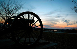 Memphis cannon at sunset