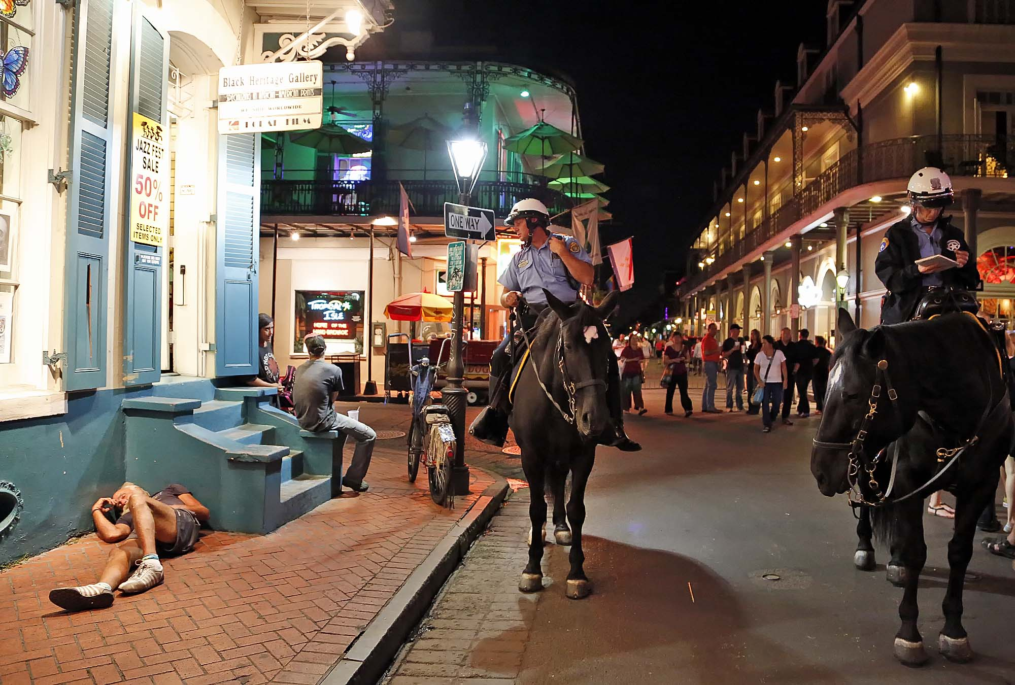 French Quarter patrol