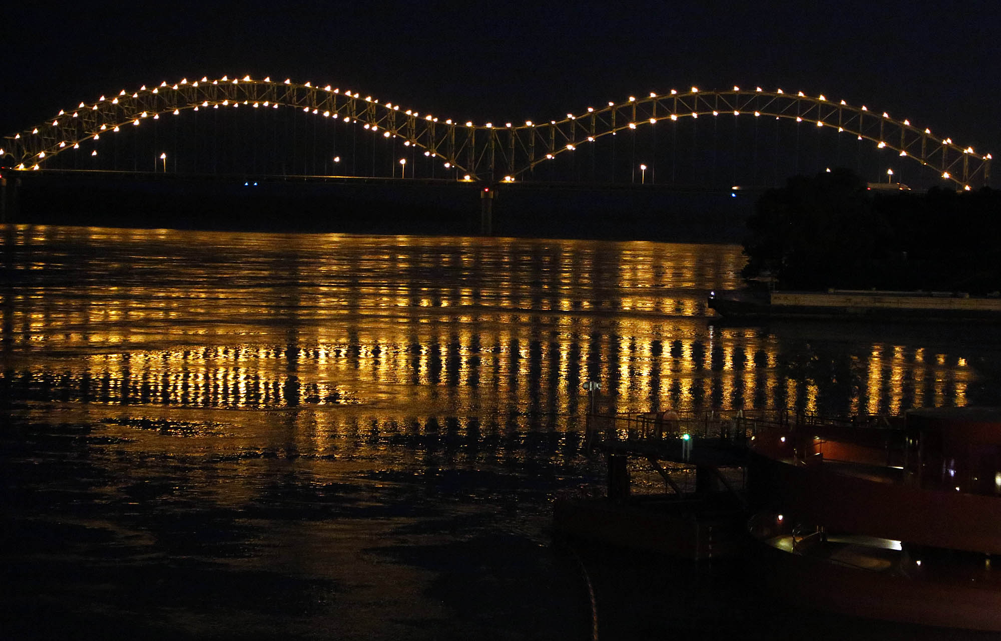 Hernando DeSoto Bridge lights