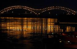 Hernando DeSoto Bridge lights