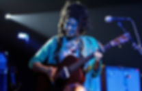 Singer-songwriter Valerie June performs at Minglewood Hall in Memphis, Tennessee, in 2014.