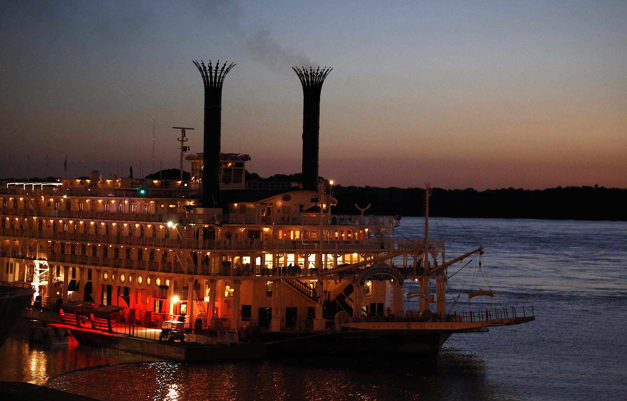 American Queen riverboat at Memphis