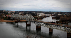 Bridge in Muscle Shoals, Alabama