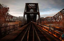 Mississippi River bridges at Memphis