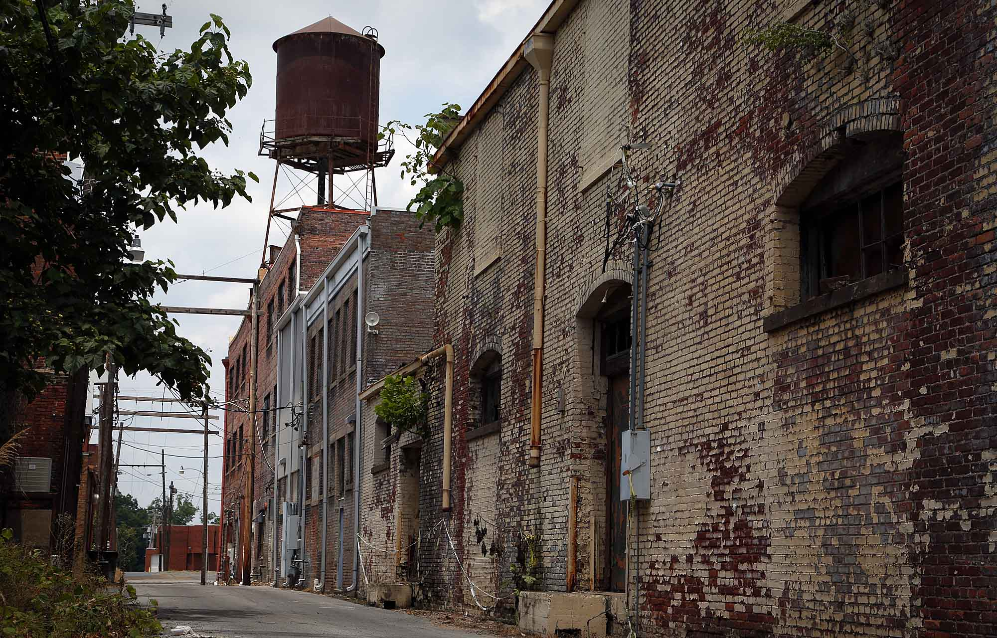 Alley in Helena, Arkansas