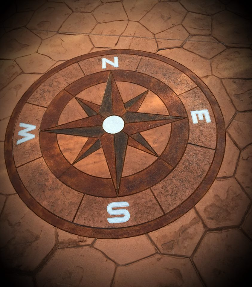 Compass Stamped Concrete