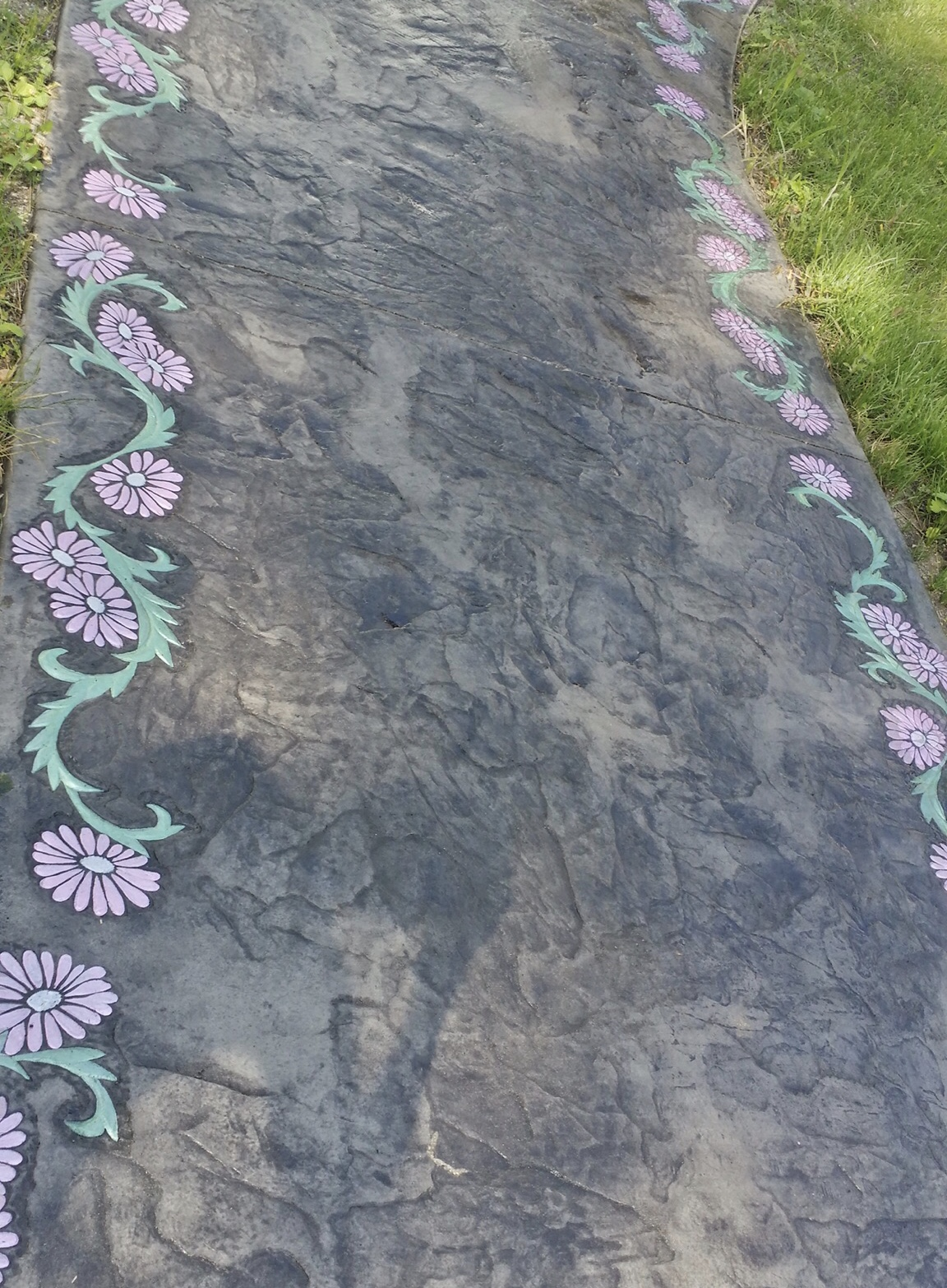 Flower Border Stamped Concrete