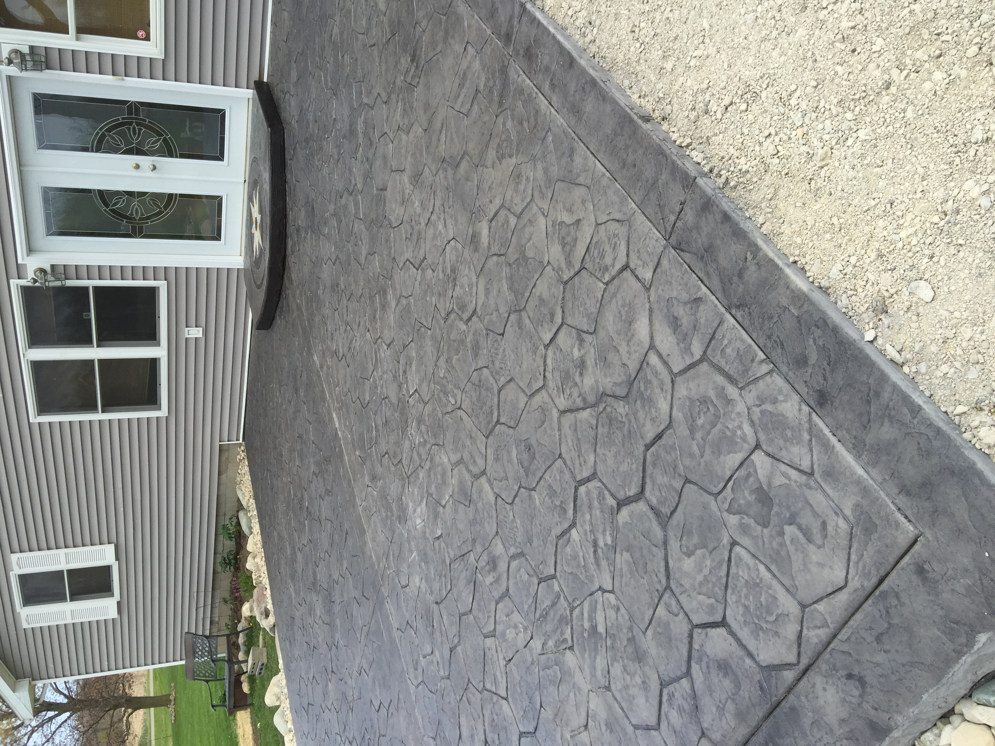 Random Rock Patio, Texture Border