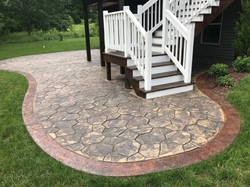 Random Rock & Stained Texture Border