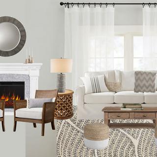 Modern Farmhouse Living Room Concept Board - 2
