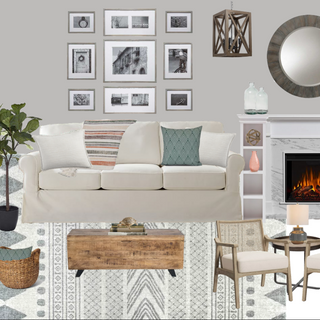 Modern Farmhouse Living Room Concept Board