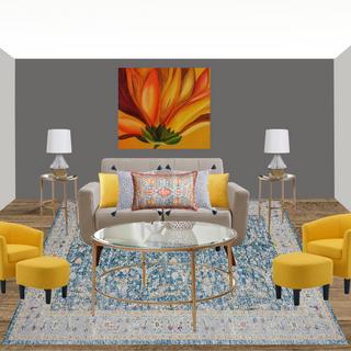 Modern Living Room Concept Board