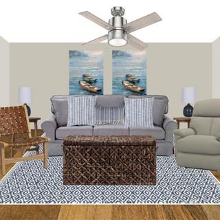 Coastal Farmhouse Living Room Concept Board