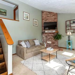 Eclectic Coastal Living Room