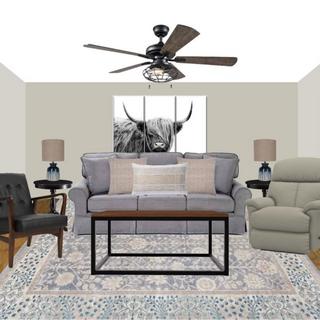Rustic Farmhouse Living Room Concept Board