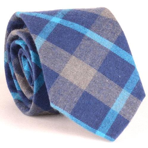 D.Corbata Tartán lana Azul