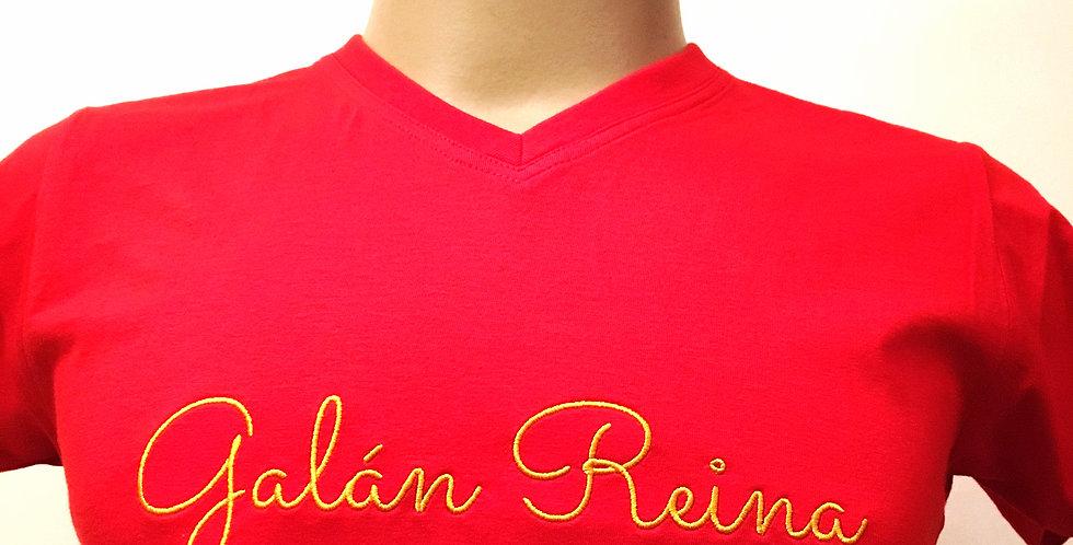"""* Camiseta """" Luz del Sur """" Roja cuello pico"""