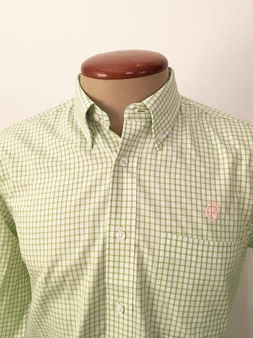 D.Camisa de cuadros Oxford Verde