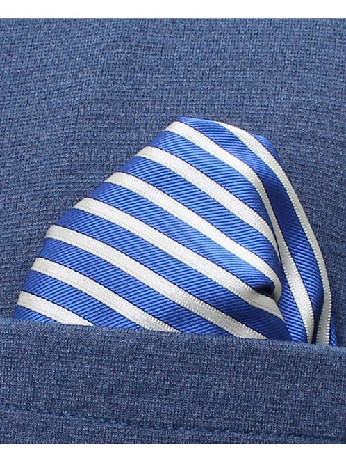 Pañuelo rayas azul