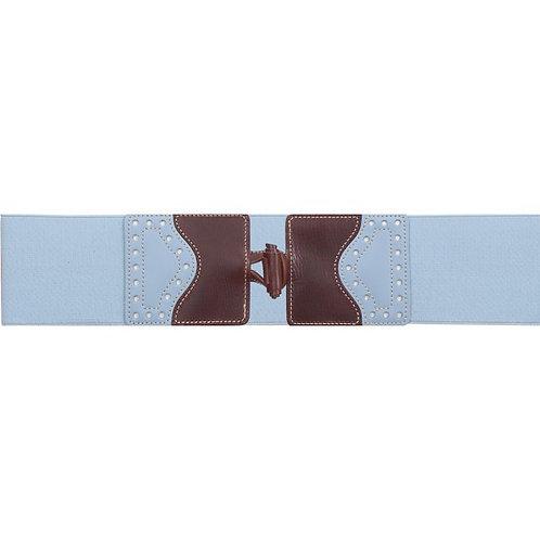 D.Cinturón piel vaquetilla elástico 7570