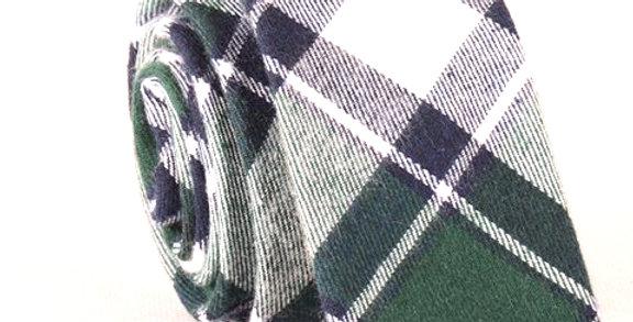 Corbata escocesa verde  Tartán