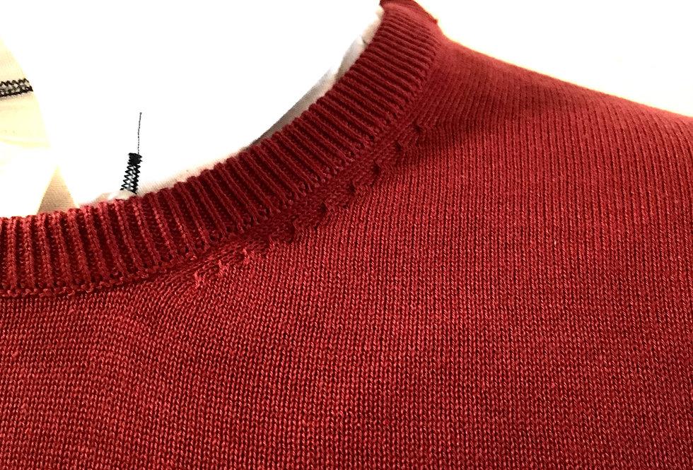 Jersey punto-cuello caja Rojo