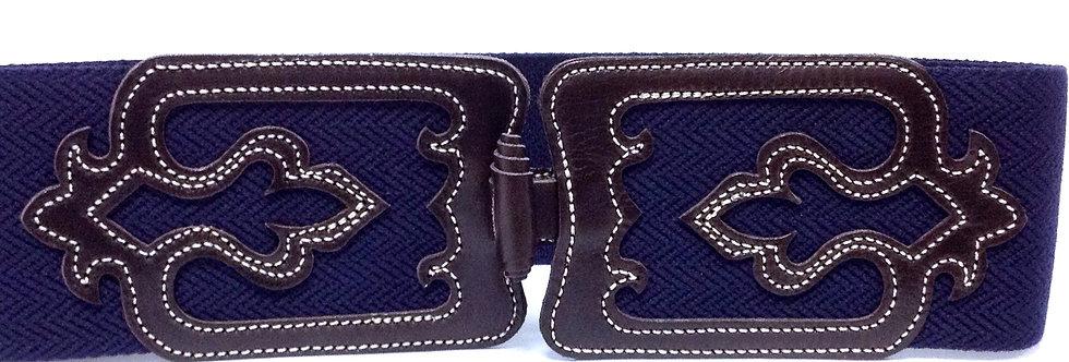 D.Cinturón piel vaquetilla elástico 8070