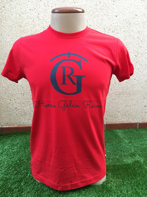 Camiseta Hierro roja logo blanco