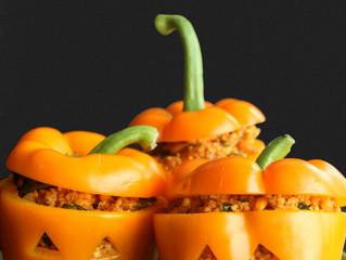 Spooky Stuffed Peppers