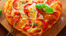 Vegetarian Recipe of the Month: GRILLED INDIVIDUAL HEART-SHAPED PIZZAS